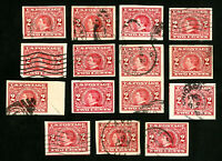 US Stamps # 371 VF Lot of 15 Used Catalog Value $315.00
