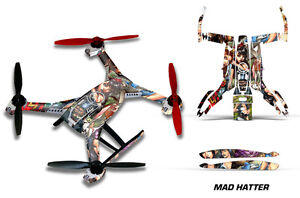 Blade 350 QX2 Drone Wrap RC Quadcopter Decal Sticker Skin Accessory MAD HATTER