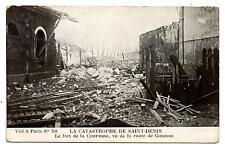 04-03-1916.SAINT-DENIS.EXPLOSION.FORT DOUBLE COURONNE.VUE DE LA ROUTE DE GONESSE