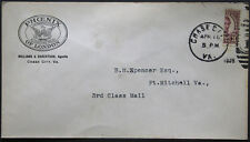 Cover - True 3 Cent Bisect to 1 1/2 Ct 3rd Class Mail rate - Chase Va S15