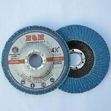 "100pcs Zirconium Jumbo FLAP DISCS 4-1/2"" x7/8"" 80 grit Grinding Wheel"