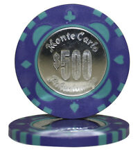 50pcs Monte Carlo Coin Inlay Poker Chips $500