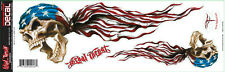 """Lethal Threat USA American Skull Right Left Decal Sticker Size 15.01"""" x 5.07"""""""
