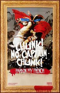 CHUNK NO CAPTAIN CHUNK Pardon My French Ltd Ed RARE Tour Poster! Emo Punk Rock