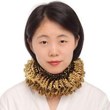 Gold Black Ruffled Collar Elizabethan Neck Ruff Victorian Steampunk Dress Props