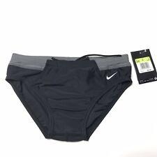 Nike Swim Brief Size 30 Mens Black Gray Victory Color Block Chlorine Resistant