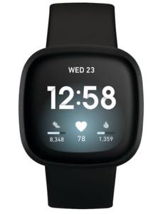 Fitbit - Versa 3 Health & Fitness Smartwatch Black FB511BKBK 24/7 Heart Rate