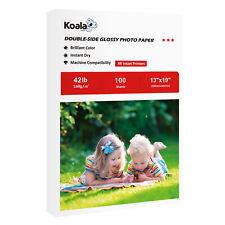 Koala 100 Sheets 13x19 Premium Double Sided Glossy Inkjet Printer Photo Paper HP