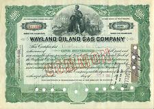Wayland Oil & Gas Company 1915 - Rarität