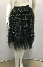 EMPORIO ARMANI SEQUIN SKIRT 12 LAYERS OR TIERS OF ORGANZA AND SEQUIN PETALS 40 S