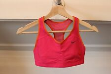NIKE Pink Orange XS MEDIUM-SUPPORT DRI-FIT Sports Bra Racer Back