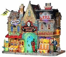 Lemax 35551 MONSTER ARCADE Spooky Town Village Building Halloween Decor New I