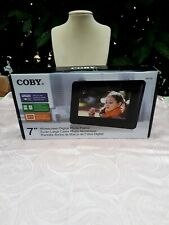 """Coby 7"""" Widescreen Digital Photo Frame New in Box Wall Mountable"""