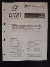 Original Service Manual Sansui Compu-Synchro Double Cassette Deck D-W11