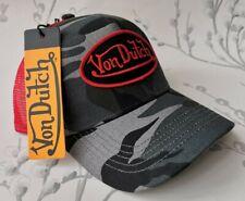 Von Dutch Trucker Cap Grey Camo/Red One Size Genuine Hat *BNWT*