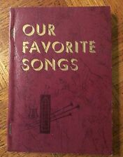 OUR FAVORITE SONGS with/Souvenir Pictures by Gospel Singing Jubilee - Like New
