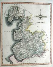 LANCASHIRE MANCHESTER LANCASTER  BY JOHN CARY GENUINE ANTIQUE MAP  c1809