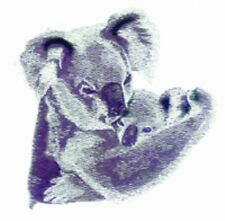 Large Embroidered Zippered Tote - Koala Pair Bt3648