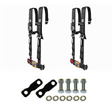 """Pro Armor 4 Point Harness 2"""" Pads Seat Belt Pair With Mount Kit Black YXZ 1000R"""