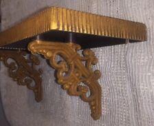 Set of 2 Vintage Homco #3323 Syroco Rattan/Wicker Look Wall Shelves Pair