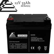 12V 33AH Rechargeable Battery Deep Cycle AGM Solar Battery Replaces 33Ah, 34Ah