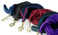 Rhinegold Padded Lead Rope - Choose Colour - 2m Soft Leadrope Dog Horse Pony