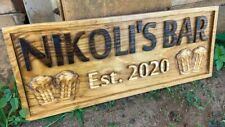 Personalized Man Cave Sign Custom Bar Signs Wood Groomsmen Gift Ideas House Gift