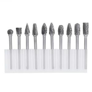 10pcs/box Tungsten Steel  Carbide Burrs for Rotary Tool Drill Bit