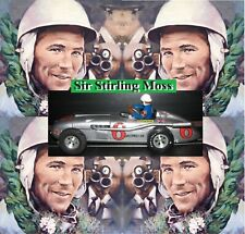 Stirling Moss Mercedes-Benz GP Style Indy Racer Slot Car 1:24 Scale with DISPLAY