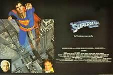 SUPERMAN: THE MOVIE Movie POSTER 27x40 UK Christopher Reeve Margot Kidder Marlon