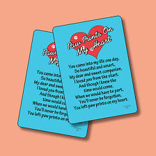 """Paw Prints On My Heart"" - 2 Verse Cards - SKU# 984"