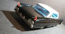 Bandai 1961 Cadillac Sedan DeVille Hardtop BLACK Japan tin toy car Friction