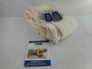Shavel Home Products Thermee Micro Flannel Electric Blanket, Sand, King