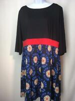 SPRUCE & SAGE Fit & Flare Dress Three Quarter Sleeve Plus Size 3X   B151