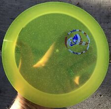 Rare Yellow 2015 Cryztal Sparkle Flx Crank 174.2 g Discraft Disc Golf Oop New
