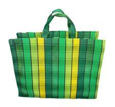 Mesh Beach Tote Medium Bag Recycled Plastic Green Yellow
