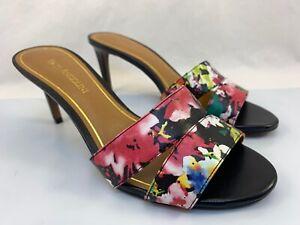 Enzo Angiolini Womens Mules Heels Size 8 M  Floral Slip On Slim Heel  New