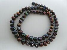 "Peacock Purple Freshwater Pearls Irregular Potato Shape Beads Strand 15.5"""