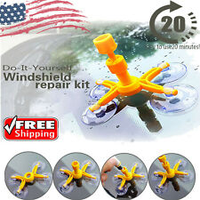 Windscreen Windshield Repair Tool Set Car DIY Kit Wind Glass For Chip Crack Fix