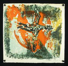 Jean-Jacques MORVAN (1928-2005) ABSTRAIT 35 ex.Peintre officiel de la Marine