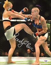 Rowdy Bec Rawlings Signed UFC 11x14 Photo PSA/DNA Fight Night 85 Picture Auto'd