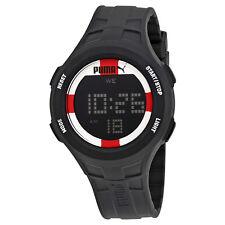 Puma Digital Dial Black Rubber Mens Watch PU911301007U