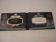 JASON KIDD JAMAL MASHBURN 2012-13 UD EXQUISITE BLACK DUAL AUTO 20/40 SIGNED CARD