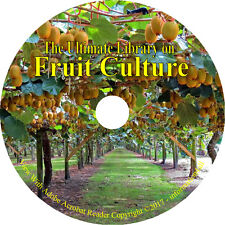 138 Books on DVD, Ultimate Library on Fruit Culture, Grow How to Recipes Garden