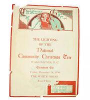 1948 White House Official The Lightning Of The National Christmas Tree Program
