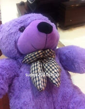 "Giant TEDDY BEAR Purple Plush Toy Cute Soft 24"" Stuffed Doll Large Kid Gift 60CM"