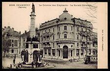 Cpa Chambéry - la colonne des éléphants la Société Générale rp0791