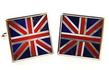 Brand New Sterling Silver Lapis, Jasper and Mother of Pearl Cufflinks