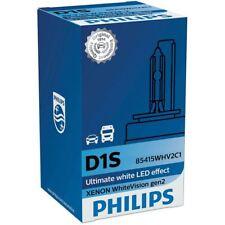 D1S PHILIPS WHITEVISION gen2 Xenon HID Lampadina Del Faro 85415WHV2C1 5000K SINGLE