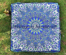 """Indian Big Square Floor Cushion Cover Dog Bed Ombre Mandala Pillow Case Boho 35"""""""